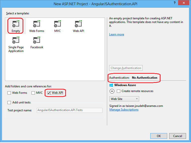 Token Based Authentication using ASP NET Web API 2, Owin