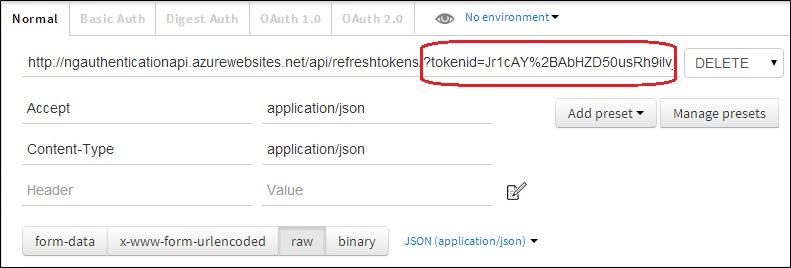 Enable OAuth Refresh Tokens in AngularJS App using ASP  NET
