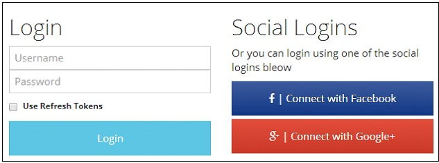 AngularJS Social Login