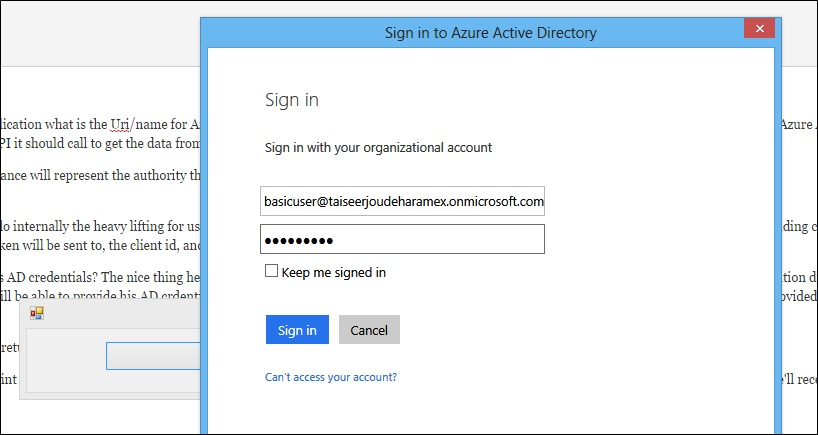 Secure ASP NET Web API 2 using Azure Active Directory, Owin