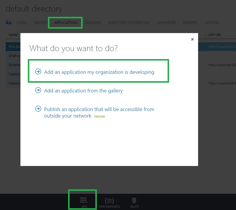 Add App to Azure AD