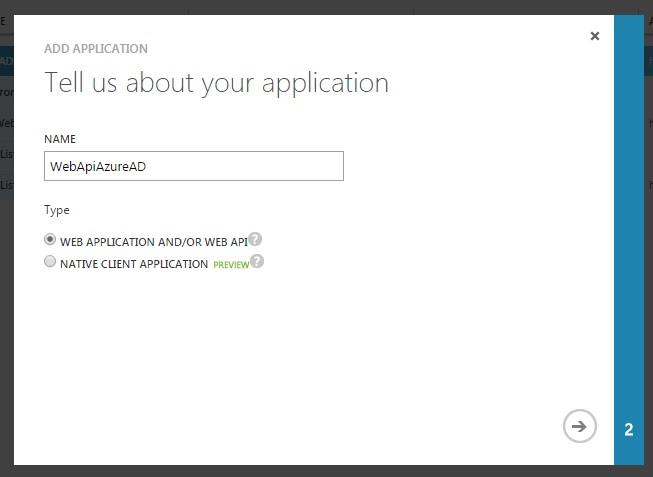 Add WebApi To Azure Active Directory