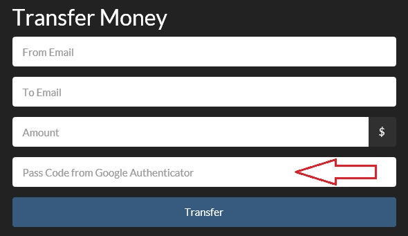 Transfer Money TFA Code