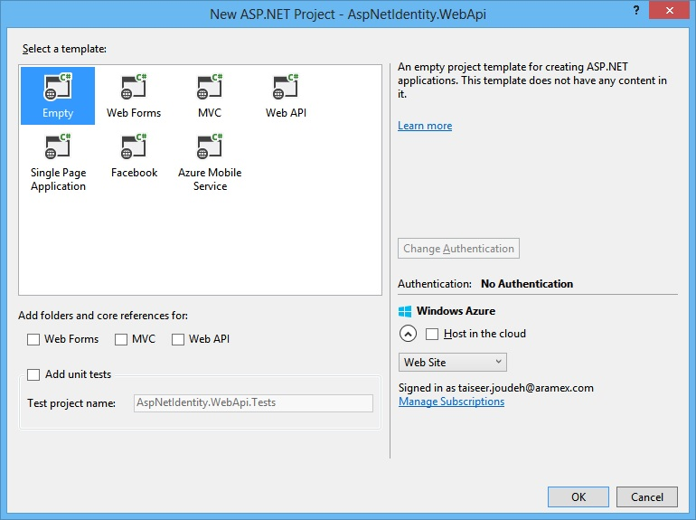 ASP NET Identity 2 1 with ASP NET Web API 2 2 (Accounts