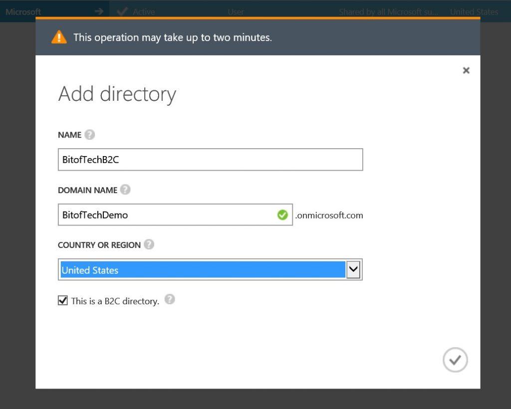 Azure AD B2C New Directory