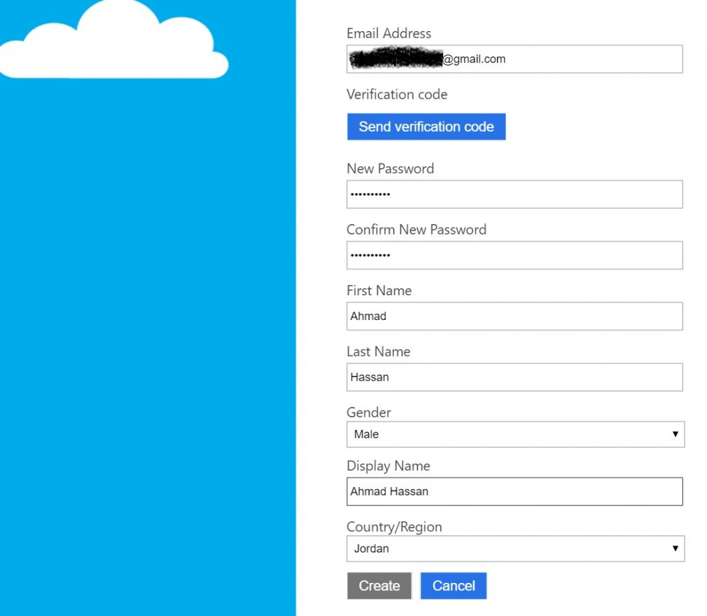 Azure AD B2C Signup Test